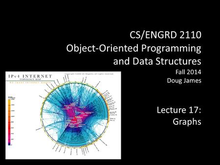 CS/ENGRD 2110 Object-Oriented Programming and Data Structures Fall 2014 Doug James Lecture 17: Graphs.
