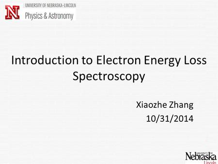 Introduction to Electron Energy Loss Spectroscopy