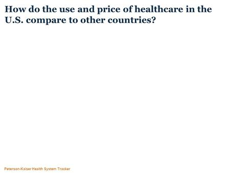 Peterson-Kaiser Health System Tracker How do the use and price of healthcare in the U.S. compare to other countries?
