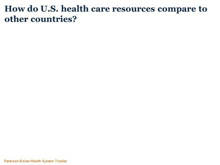 Peterson-Kaiser Health System Tracker How do U.S. health care resources compare to other countries?