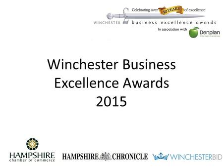 Winchester Business Excellence Awards 2015. Catherine Turness BID Manager.