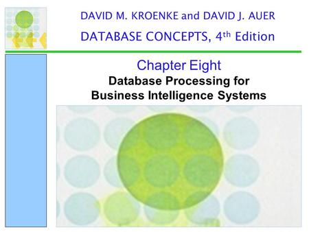 Database Processing for Business Intelligence Systems