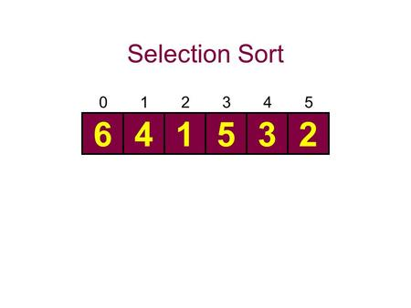 Selection Sort 345012 641532. 345012 6 41532 345012 64 1532.