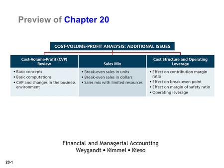 20-1 Preview of Chapter 20 Financial and Managerial Accounting Weygandt Kimmel Kieso.