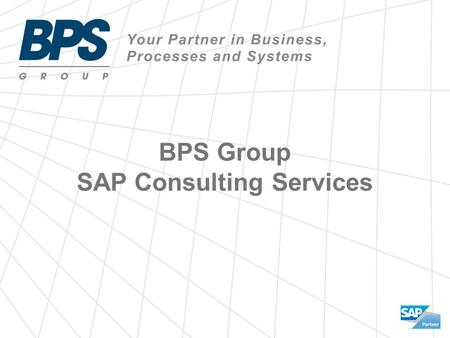 BPS Group SAP Consulting Services