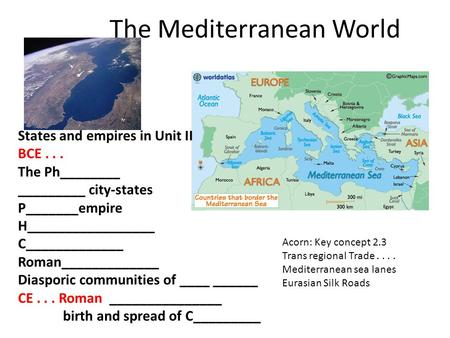 The Mediterranean World