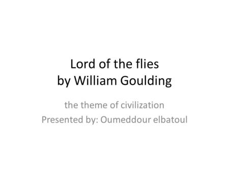 william goulding s lord flies allegory provides analysis s Published in 1954, lord of the flies was golding's first novel chapter 1: the sound of the shell of the novel lord of the flies by william golding on enotes.