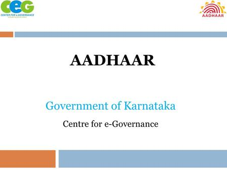 Government of Karnataka Centre for e-Governance
