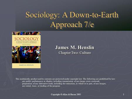 The principles of sociology a down to earth approach