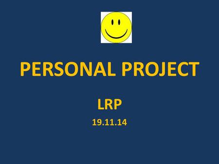 PERSONAL PROJECT LRP 19.11.14.