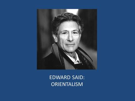 Edward said and gender domination