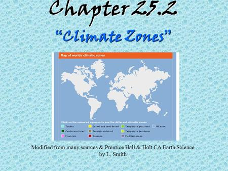 "Chapter 25.2 ""Climate Zones"""