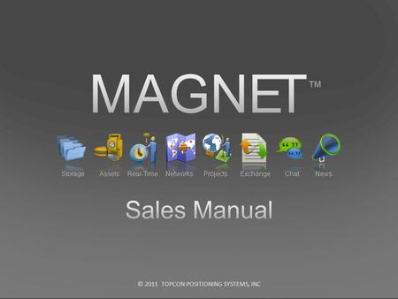 MAGNET ™ Sales Manual Storage Assets Real-Time Networks Projects