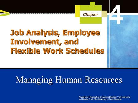 Job Analysis, Employee Involvement, and Flexible Work Schedules