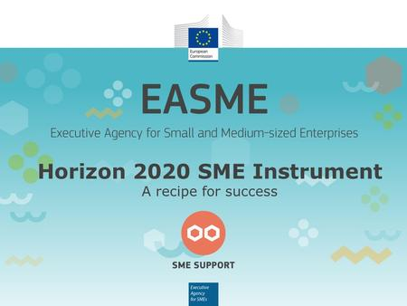 Horizon 2020 SME Instrument A recipe for success.