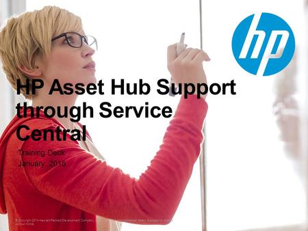 HP Asset Hub Support through Service Central