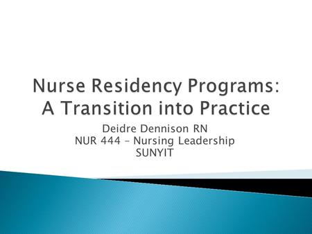 student nurse transition to registered nurse essay