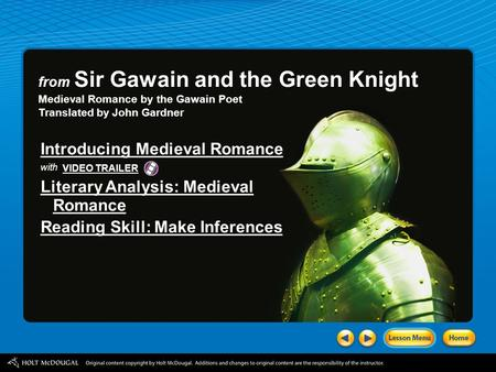 a literary analysis of the symbolism of sir gawain and the green knight The animals play various roles of significance in the larger narrative of sir gawain and the green knight like wilson has previously mentioned, the animals parallel the encounters gawain has with the lady in the bedroom.