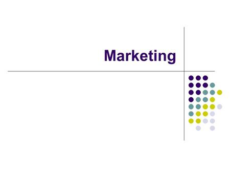 Marketing. Finding a target market https://www.youtube.com/watch?v=13- Rqjt5kwg https://www.youtube.com/watch?v=13- Rqjt5kwg What is the target market.
