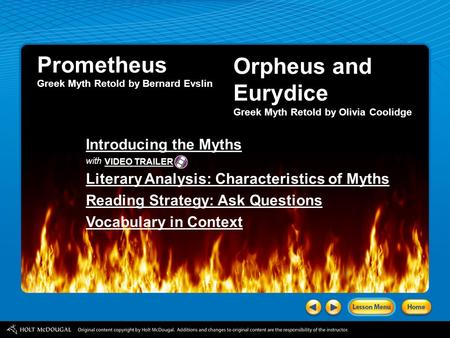 Prometheus Orpheus and Eurydice Introducing the Myths
