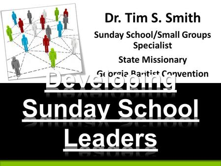 Developing Sunday School Leaders