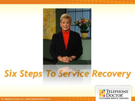 Six Steps To Service Recovery
