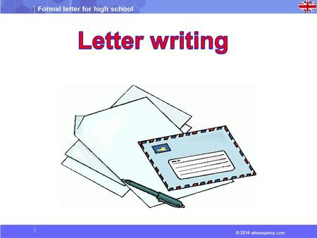 Letter writing.