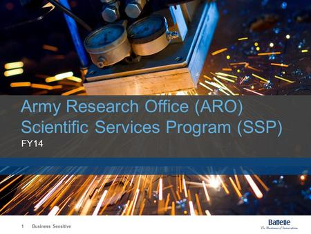 Army Research Office (ARO) Scientific Services Program (SSP)