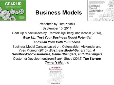 Gear Up: Test Your Business Model Potential