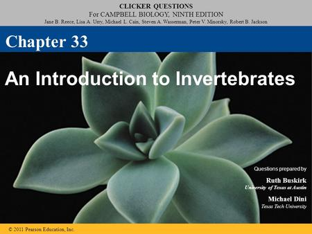 Click to edit Master title style Click to edit Master subtitle style CLICKER QUESTIONS For CAMPBELL BIOLOGY, NINTH EDITION Jane B. Reece, Lisa A. Urry,