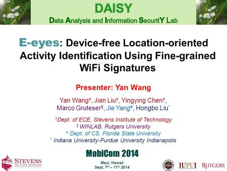 DAISY Data Analysis and Information SecuritY Lab