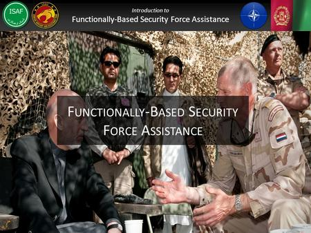 Functionally-Based Security Force Assistance