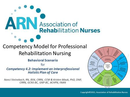 Competency Model for Professional Rehabilitation Nursing