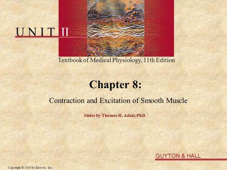 Contraction and Excitation of Smooth Muscle