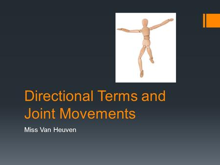 Directional Terms and Joint Movements