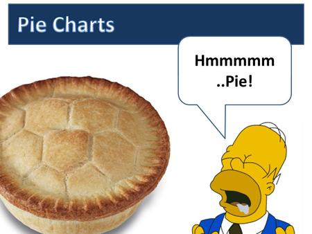 Hmmmmm..Pie!. WALT Can you read a pie chart? WILF By the end of the lesson can you….. put a percentage next to a pie chart section? match the result to.