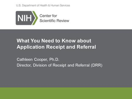 What You Need to Know about Application Receipt and Referral