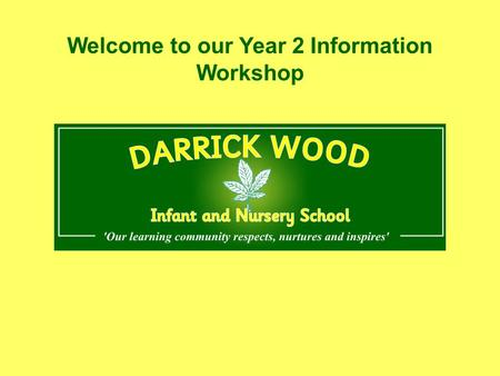 Welcome to our Year 2 Information Workshop. Aims:  To understand how End of Key Stage 1 Assessments are carried out.  To become familiar with end of.