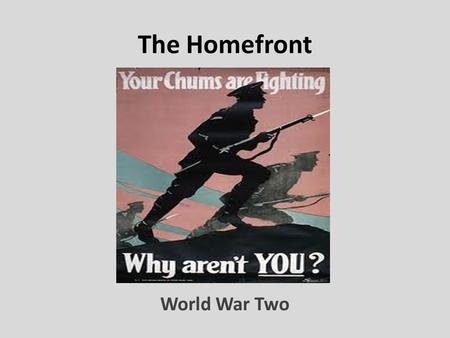 The Homefront World War Two.