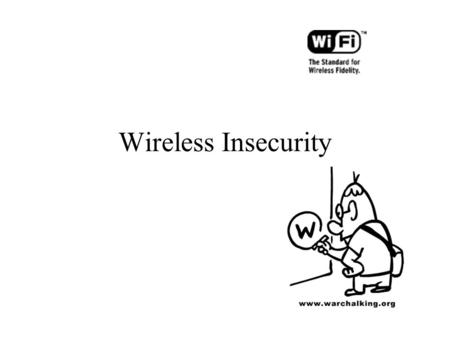 Wireless Insecurity.