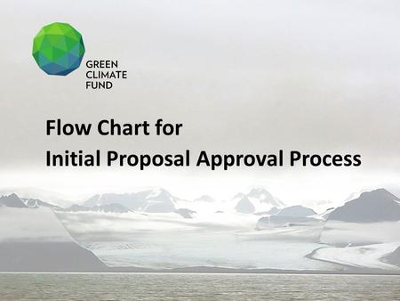 Flow Chart for Initial Proposal Approval Process.