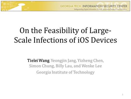 On the Feasibility of Large-Scale Infections of iOS Devices