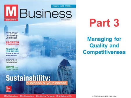 Managing for Quality and Competitiveness