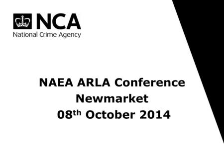 NAEA ARLA Conference Newmarket 08th October 2014.