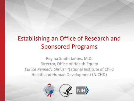 Establishing an Office of Research and Sponsored Programs