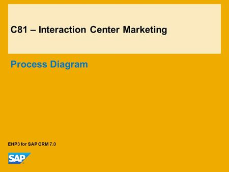 C81 – Interaction Center Marketing