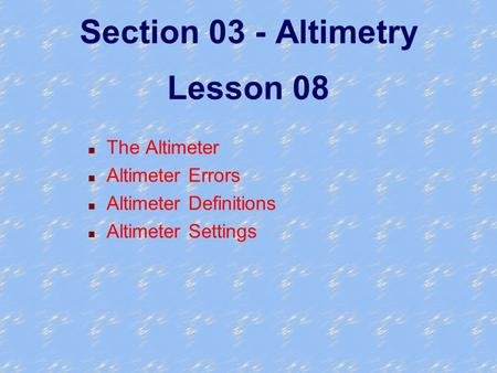 Section 03 - Altimetry Lesson 08