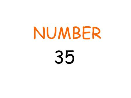 NUMBER 35. Number of school weeks until exams start 29 (Week beginning: 11 th May) Number of holiday weeks 6 (October, Christmas, February, Easter)