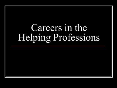 Careers in the Helping Professions. What is Personal Inventory? Personal inventory is a review of a person's interests and skills. (The Personal Style.