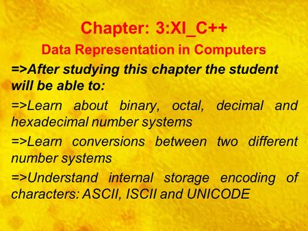 Data Representation in Computers